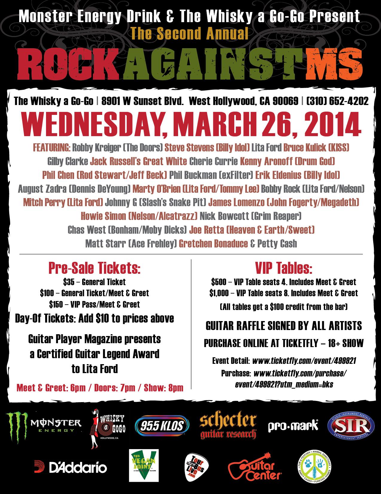 Rock Against MS & Ronald McDonald House Charities