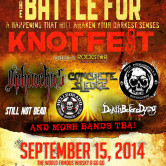 HEADBANG FOR THE HIGHWAY PRESENTS BATTLE FOR KNOTFEST 2014 W/ OPHIUCHUS, CONCRETE SLEDGE, THE MENDENHALL EXPERIMENT, STILL NOT DEAD, HELLDORADO, DEATH BEFORE DYING