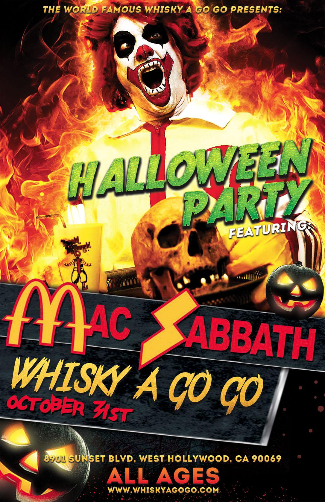 halloween with mac sabbath + krammpstein, blahdios, rhythm coffin