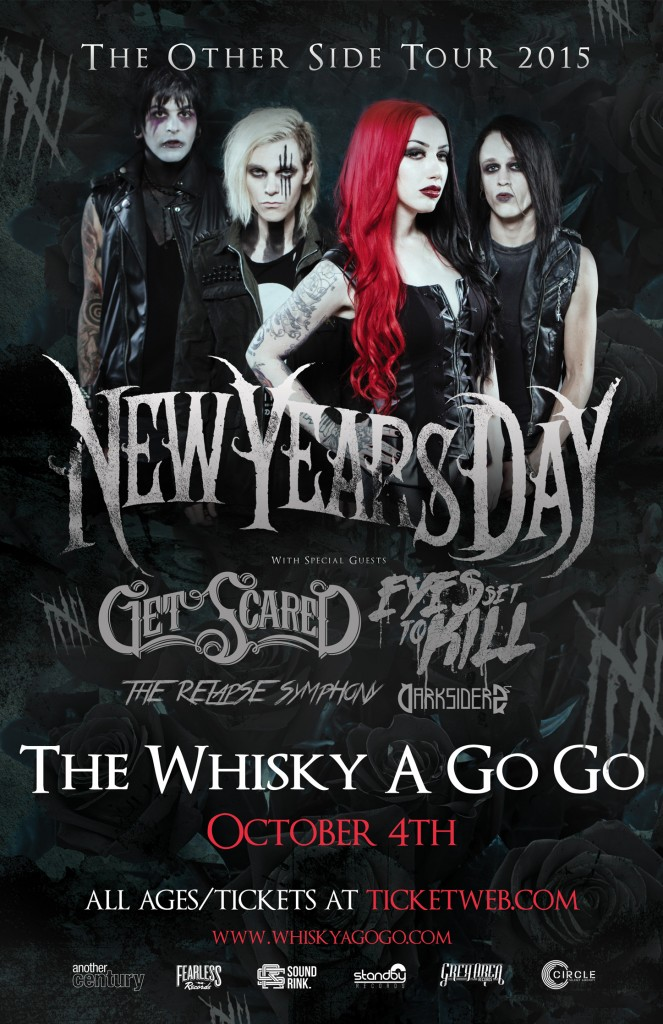 New Years Day Get Scared Eyes Set To Kill The Relapse