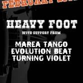 HEAVY FOOT, MAREA TANGO, EVOLUTION BEAT, TURNING VIOLET