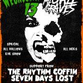 HALLOWEEN NIGHT W/ WEDNESDAY 13 + MICHALE GRAVES, THE RHYTHM COFFIN, SEVEN DAYS LOST, SCURVY KIDS