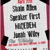 SHAIN ALLEN, SPEAKER FIRST, MIQEDEM, JONAH WILEY