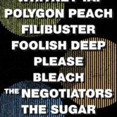 WHITNEY TAI, POLYGON PEACH, FILIBUSTER, FOOLISH DEEP, PLEASE, BLEACH, THE NEGOTIATORS