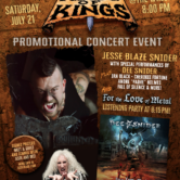"""JESSE BLAZE SNIDER with special guests DEE SNIDER, RACHEL LORIN, CHEROKEE FORTUNE, IRA BLACK, ANDRE """"PADRE"""" HOLMES also performing FALL OF SILENCE, BLACK LIGHT DISTRICT"""